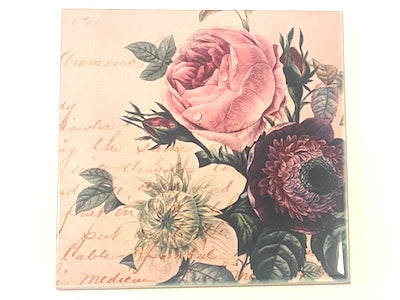 Shabby Chic 10x10cm Ceramic Tiles - No. 19 (HM)