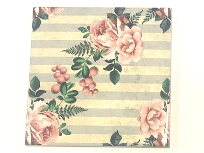 Shabby Chic 10x10cm Ceramic Tiles - No. 21 (HM)