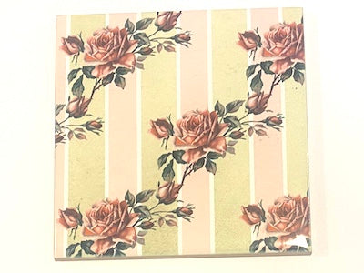 Shabby Chic 10x10cm Ceramic Tiles - No. 31 (HM)