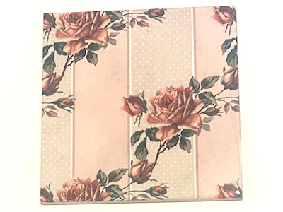 Shabby Chic 10x10cm Ceramic Tiles - No. 33 (HM)