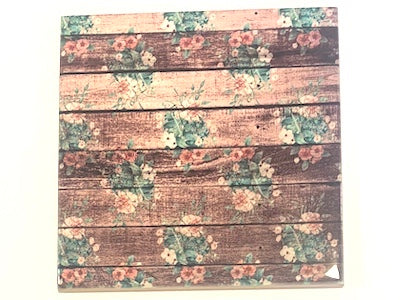 Shabby Chic 10x10cm Ceramic Tiles - No. 9 (HM)