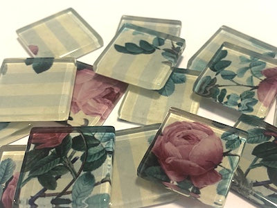 SHABBY CHIC GLASS TILES 2.5CM - NO. 17 (HM)