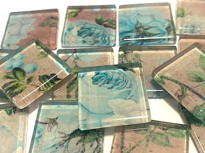 SHABBY CHIC GLASS TILES 2.5CM - NO. 1 (HM)