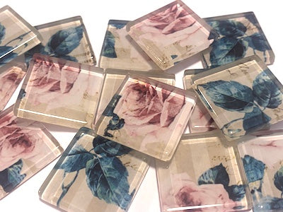 SHABBY CHIC GLASS TILES 2.5CM - NO. 22 (HM)