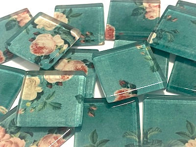 SHABBY CHIC GLASS TILES 2.5CM - NO. 25 (HM)