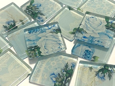 SHABBY CHIC GLASS TILES 2.5CM - NO. 31 (HM)