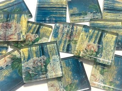SHABBY CHIC GLASS TILES 2.5CM - NO. 33 (HM)