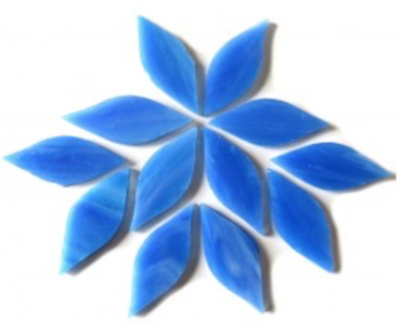 Small Blue Stained Glass Petals