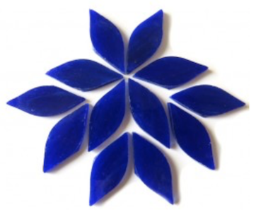 Small Dark Blue Stained Glass Petals