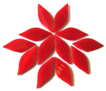 Small Red Stained Glass Petals
