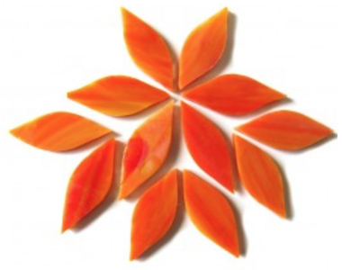 Small Orange Stained Glass Petals
