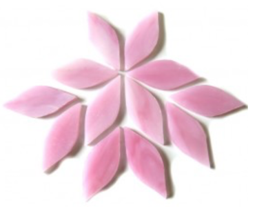 Small Pink Stained Glass Petals