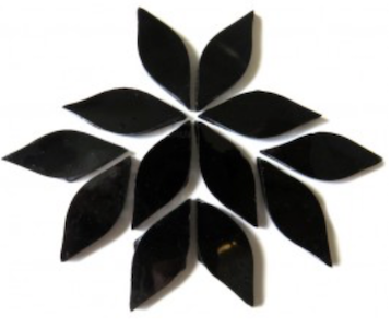 Small Black Stained Glass Petals