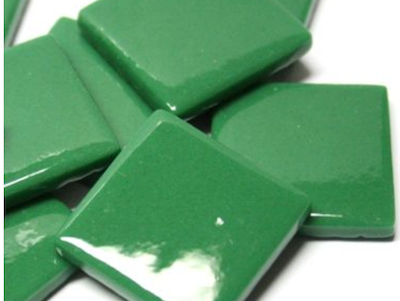 Spruce Green Gloss Glass Tiles 2.5cm