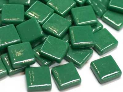 Spruce Green Gloss Glass Tiles 1.2cm