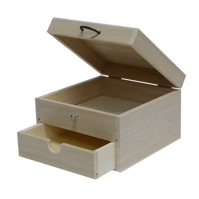 Square Box with Drawer