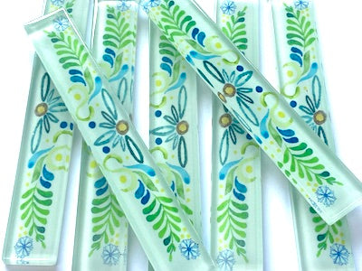 TALAVERA MEXICAN GLASS TILES STRIPS 10X1.5CM - NO. 1 (HM)