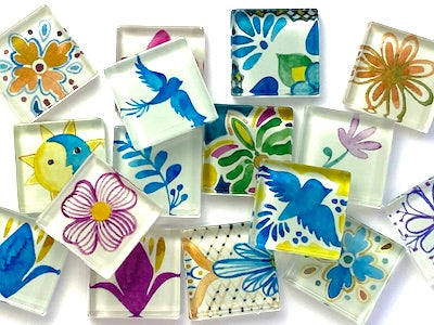 Talavera Mexican Glass Tiles 2.5 - Mix 2