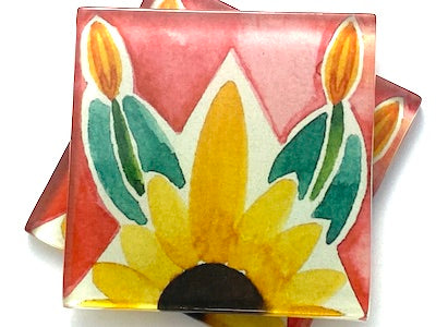 Talavera Mexican Glass Tiles 5cm - Pattern 11  (HM)