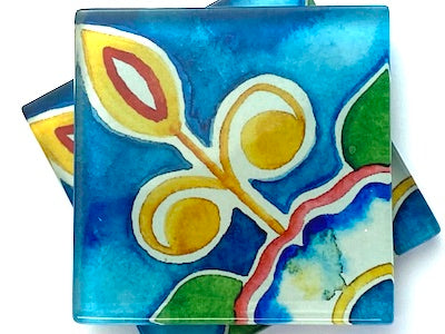 Talavera Mexican Glass Tiles 5cm - Pattern 15 (HM)