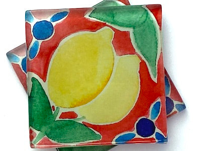 Talavera Mexican Glass Tiles 5cm - Pattern 16 (HM)