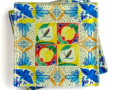Talavera Mexican Glass Tiles 5cm - Pattern 20 (HM)