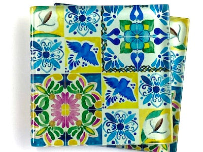 Talavera Mexican Glass Tiles 5cm - Pattern 21 (HM)