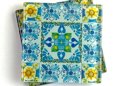Talavera Mexican Glass Tiles 5cm - Pattern 23 (HM)