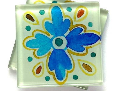 Talavera Mexican Glass Tiles 5cm - Pattern 2 (HM)
