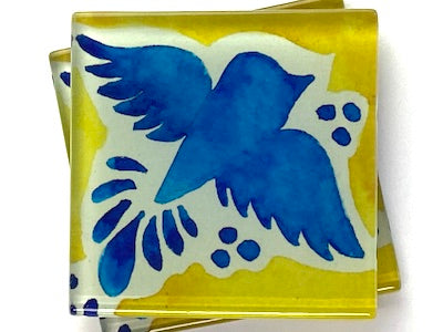 Talavera Mexican Glass Tiles 5cm - Pattern 6 (HM)