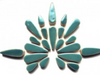 Teal Ceramic Teardrops
