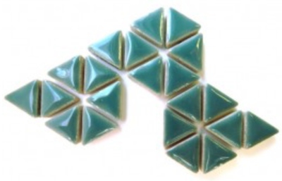 Teal Ceramic Triangle