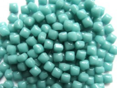 Teal Micro Glass Tiles