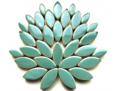 Teal Green Ceramic Petals