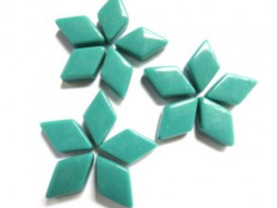 Teal Mini Glass Diamonds
