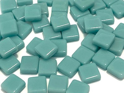 Teal Gloss Glass Tiles 1cm