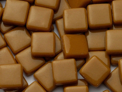 Toffee Gloss Glass Tiles 1cm