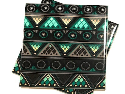 Tribal Inspired 10x10cm Ceramic Tiles - Pattern 13