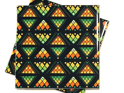 Tribal Inspired 10x10cm Ceramic Tiles - Pattern 21