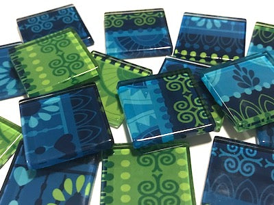Tribal Inspired Glass Tiles 2.5cm - Pattern 13