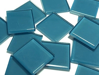 Turquoise No. 2 Glass Mosaic Tiles 2.5cm