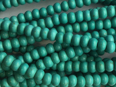 Turquoise rounded beads