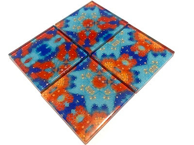 Vintage Gypsy Glass Mosaic Tiles 5cm - No. 10 (HM)
