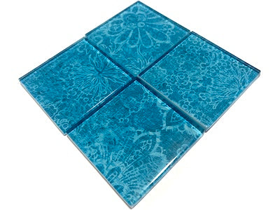 Vintage Gypsy Glass Mosaic Tiles 5cm - No. 11 (HM)
