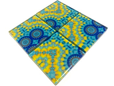 Vintage Gypsy Glass Mosaic Tiles 5cm - No. 12 (HM)