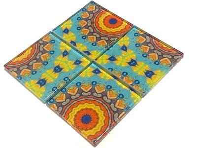 Vintage Gypsy Glass Mosaic Tiles 5cm - No. 1 (HM)