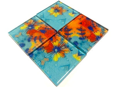 Vintage Gypsy Glass Mosaic Tiles 5cm - No. 2 (HM)