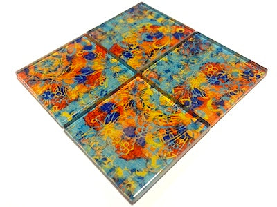 Vintage Gypsy Glass Mosaic Tiles 5cm - No. 3 (HM)