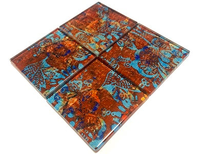 Vintage Gypsy Glass Mosaic Tiles 5cm - No. 4 (HM)