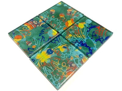 Vintage Gypsy Glass Mosaic Tiles 5cm - No. 6 (HM)
